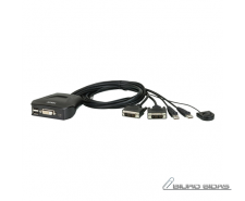 Aten 2-Port USB DVI Cable KVM Switch with Remote Port S..