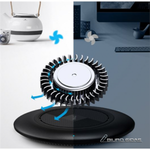 iWalk ADS009 Scorpion Flat mode Wireless Charger with Cooling Fan and Light Control 259712