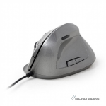 Gembird MUS-ERGO-02 Optical Mouse, Silvergrey..