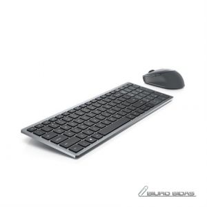 Dell Keyboard and Mouse KM7120W Wireless, 2.4 GHz, Bluetooth 5.0, Keyboard layout US, Titan Gray 292557