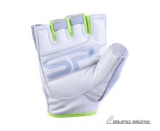 Spokey ZOE II Fitness gloves, L (19-20 cm), Grey/Lime 3..