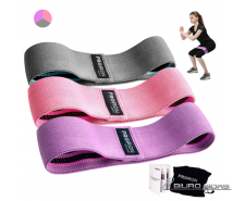 PROIRON Fabric Booty Exercise Band Set Fitness Bands, 3..