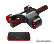 PROIRON Ab Abdominal Roller Whee Black/Red, Stainless-s..