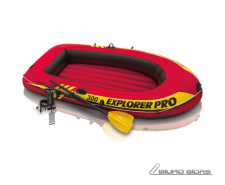 Intex Explorer Pro 300 Set Inflatable Boat With Oars an..