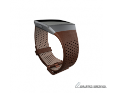 Fitbit Ionic Accessory Perforated Leather Band Dark Bro..