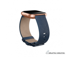 Fitbit Versa Accessory Leather Band Navy - Large 509368