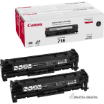 Canon cartridge 718 black, 2 pcs, contract