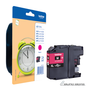 Brother LC125XLM ink cartridge, magenta, high capacity