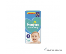 Sauskelnės PAMPERS Active Baby-Dry, Value Pack Plus, 4 ..