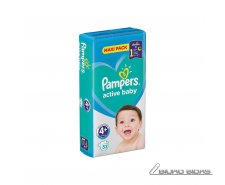 Sauskelnės PAMPERS Active Baby-Dry, Value Pack Plus, 4+..
